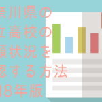 神奈川県の公立高校の志願者数を確認する方法2018